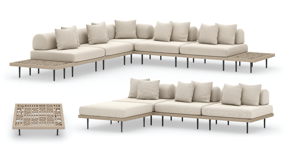 Yves Outdoor Sectional Configurations
