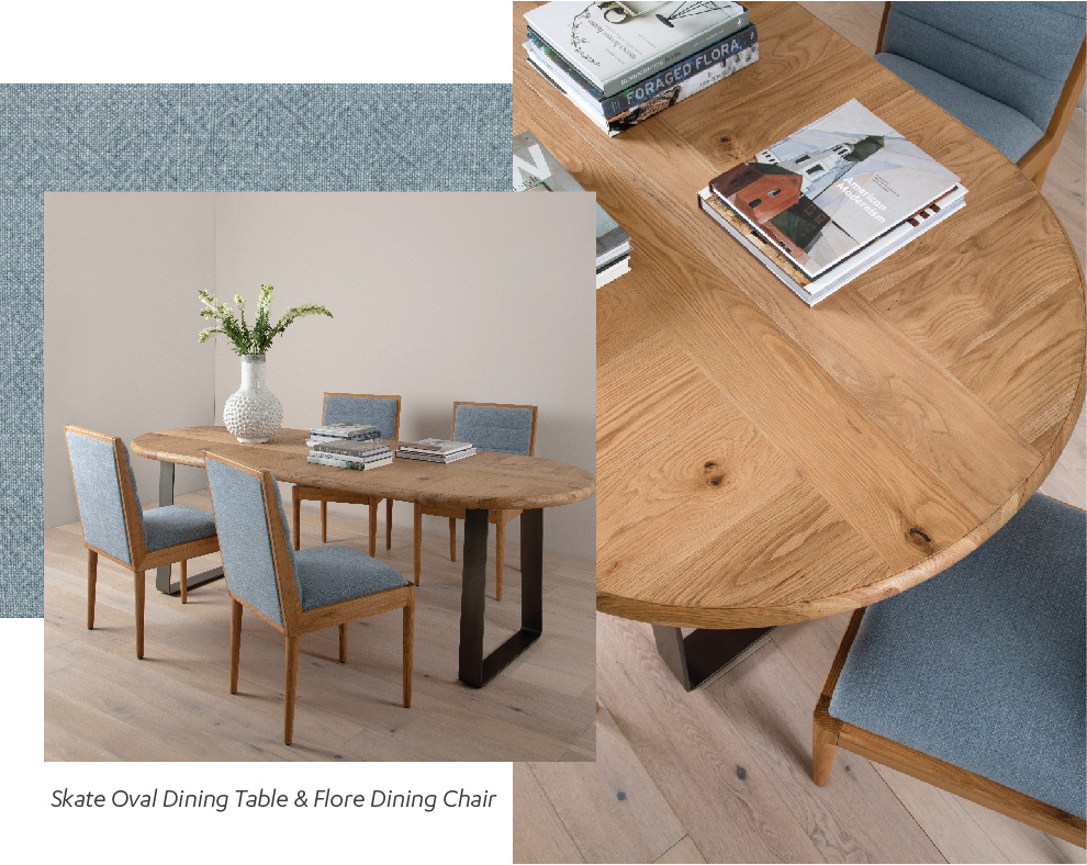 Skate Oval Dining Table & Flore Dining Chair