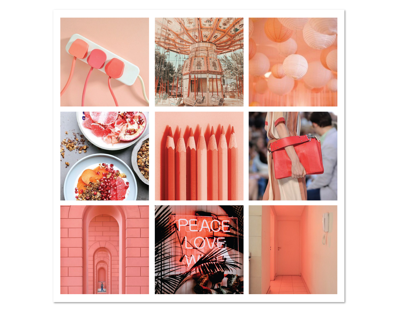 Pantone Color of the Year 2019 Living Coral mood board