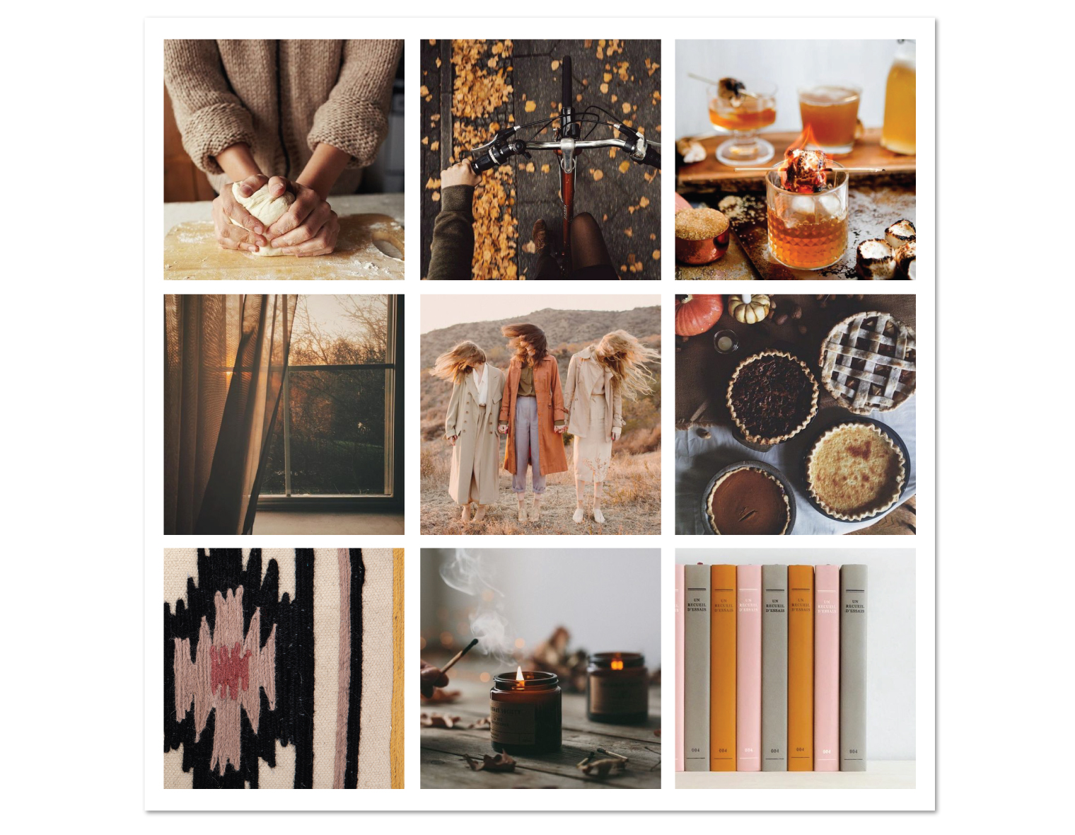 Fall Autumn November Mood Inspiration Board