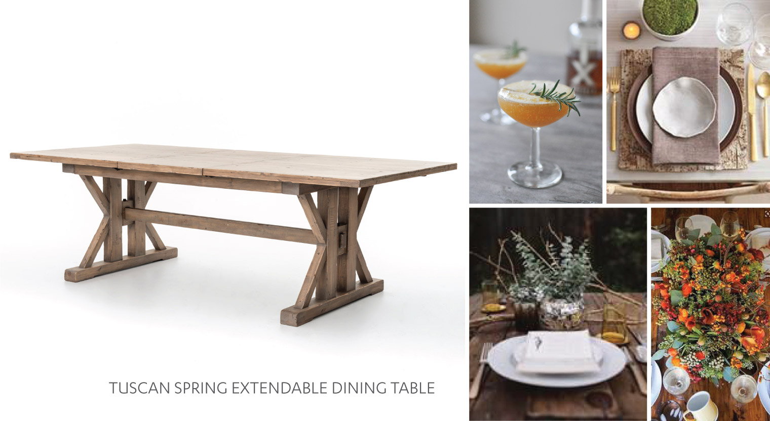 The Arrangement Four Hands Furniture Blog - Tuscan spring dining table