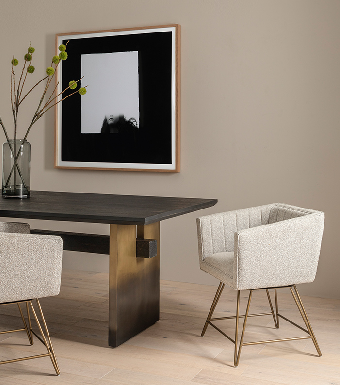 Brennan Dining Table Rooney Swivel Dining Chair