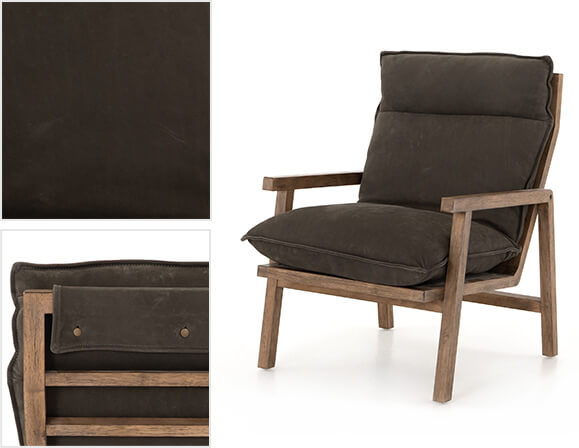 Orion Chair in Nubuck Charcoal