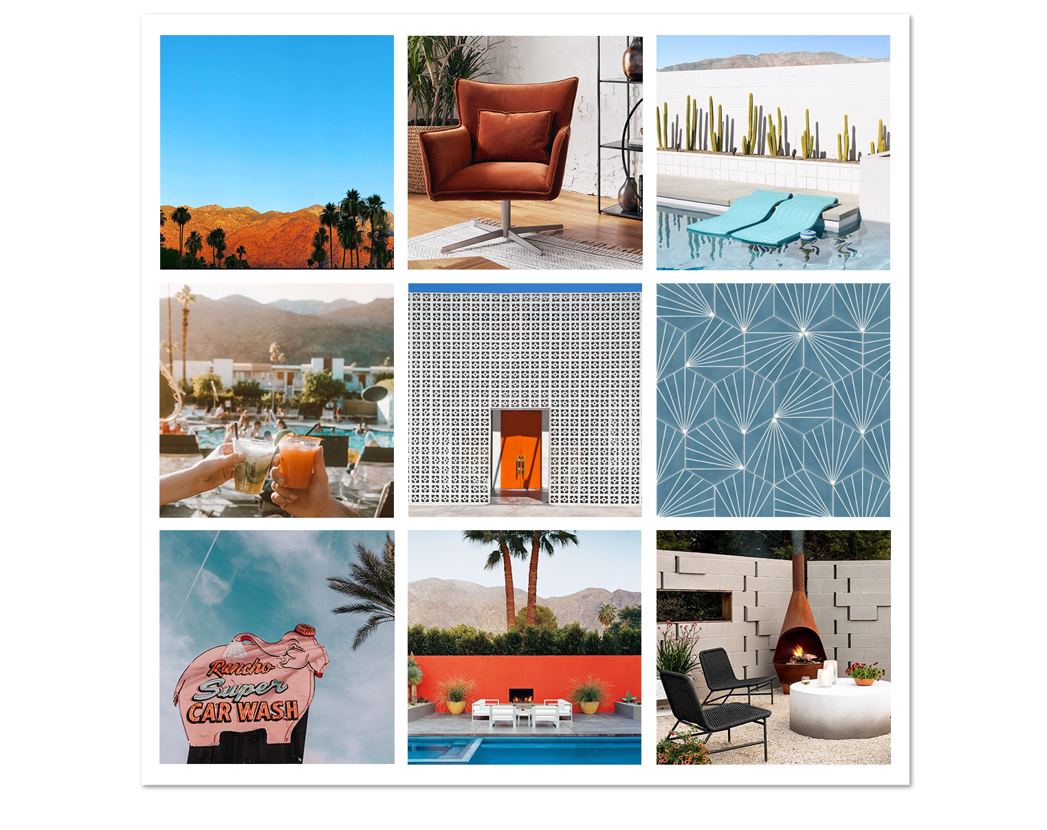 Palm Springs Moodboard