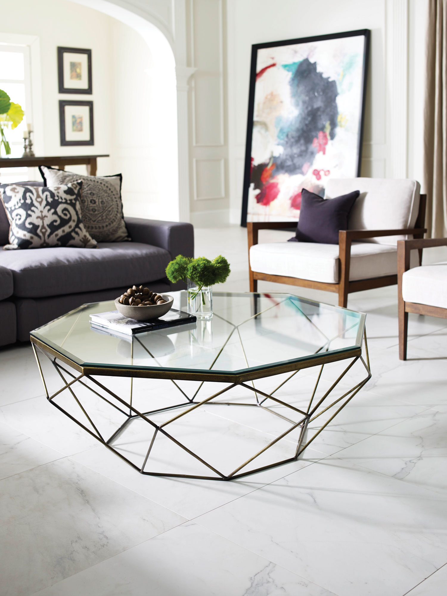We Love Taking An Unanticipated Approach To Shape. Unique Geometric Lines  Entertain The Eye And Give A Room Depth. Featured: Geometric Coffee Table