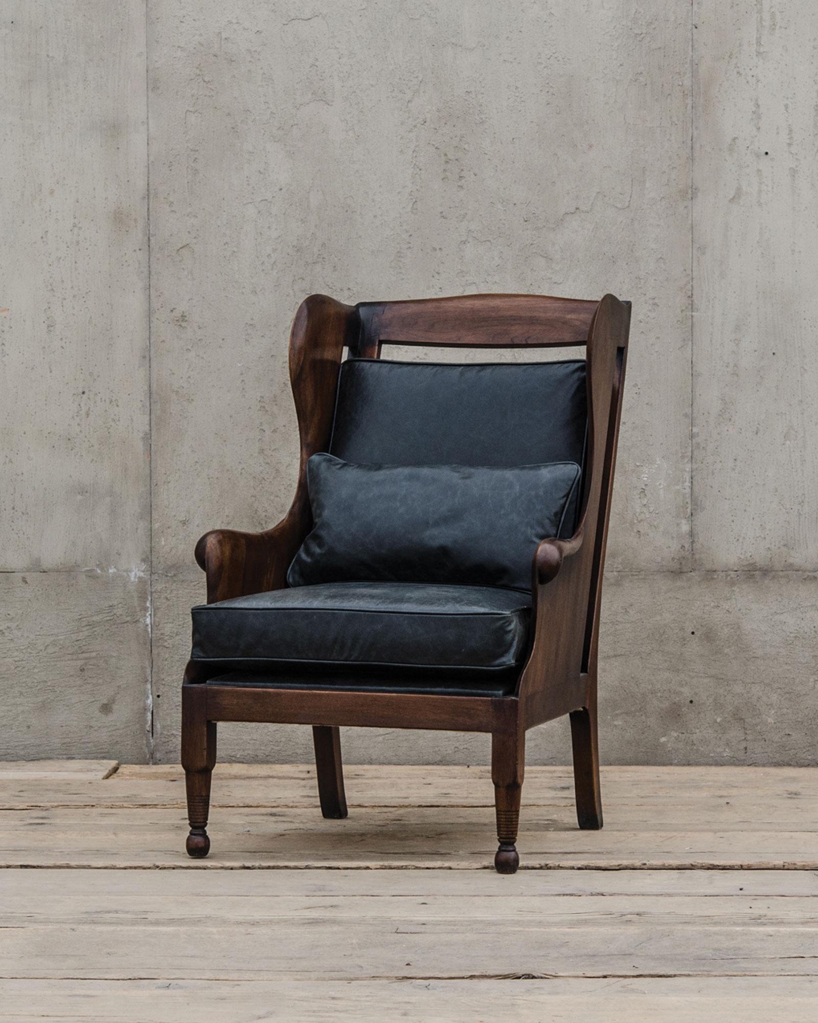 featured alderman lyonu0027s chair rubbed black substantial furniture