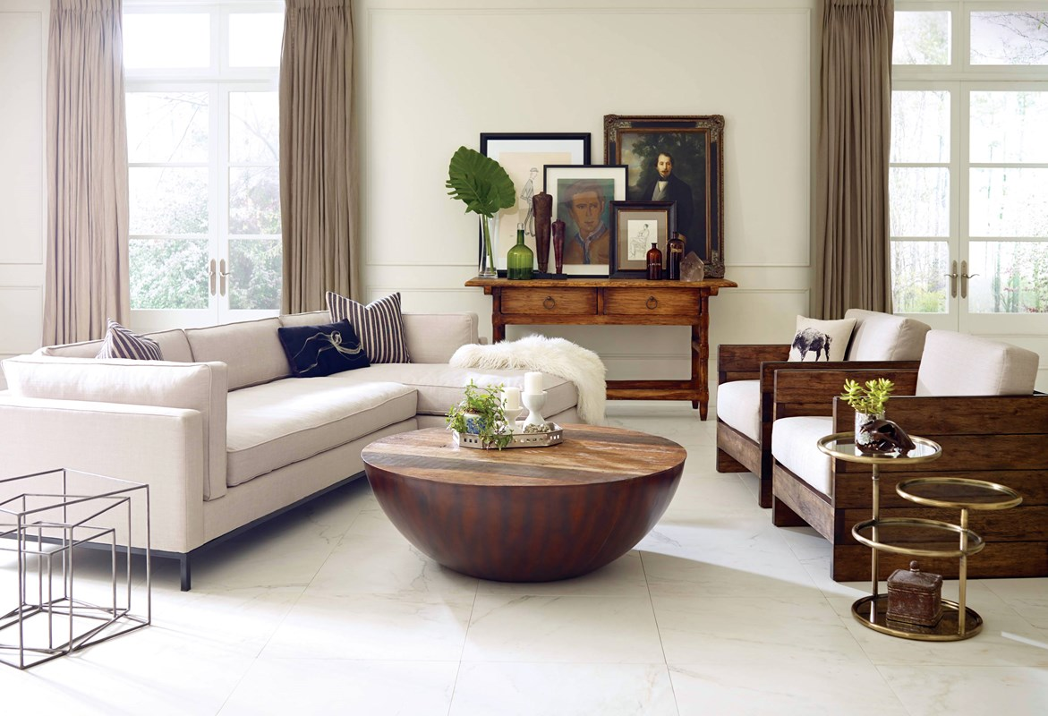 Substantial Furniture Doesn T Have To Feel Traditional When Paired With Curved Lines And