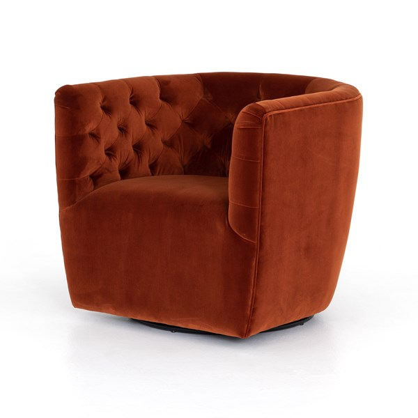 Awesome Hanover Swivel Chair Sapphire Rust Four Hands Look Book Evergreenethics Interior Chair Design Evergreenethicsorg