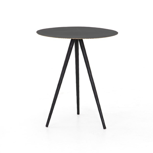 Trula End Table Rubbed Black Four Hands Look Book